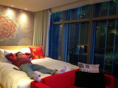 Recovering from an early flight out of Beijing