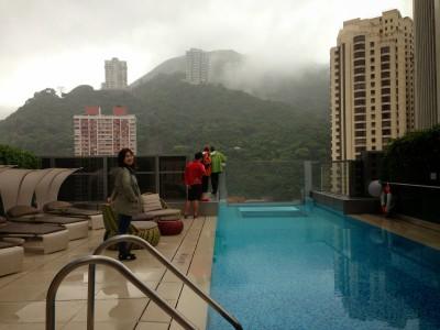 The pool at Hotel Indigo